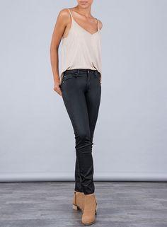 Tienda online | Moda mujer y hombre Jeans Nicky Skinny en color negro brillo de Tiffosi Tienda online | Moda mujer y hombre