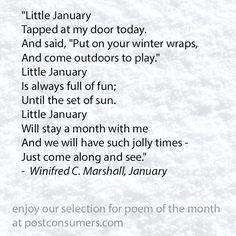 Favorite Postconsumers Winter Poem: January 2017
