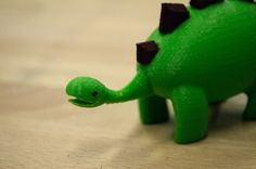Cute Dinosaur 3D Printed Toy by CarryTheWhat on Etsy