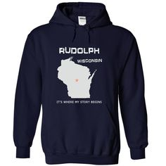 Visit site to get more awesome t shirts, awesome t shirts for guys, awesome shirts, awesome shirts for men, awesome t shirts for men. You were born in Rudolph, Wisconsin. This shirt is for you.