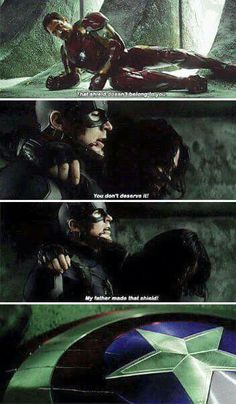 One of my favorite moments of Civil War! Just goes to show you his far b688294e9e9bb
