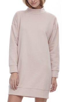 FASHION/OVERLOAD CHANDAIL COTON OUATÉ COL HAUT ROSE Sweaters, Fashion, Pink Tops, High Collar, Cotton, Moda, Fashion Styles, Sweater, Fashion Illustrations