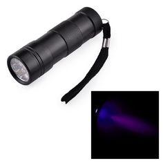 12 LED UV FLASHLIGHT BLACK