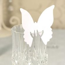 White Butterfly Place Cards