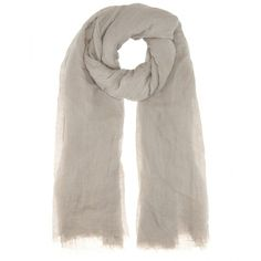 Rick Owens Sandy Linen and Silk-Blend Scarf (£230) ❤ liked on Polyvore featuring accessories e scarves