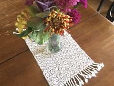 Bring that country feeling to the table with some warm butternut squash soup and this table runner. Farmhouse Table Runners, Modern Farmhouse Table, Farmhouse Dining Room Table, Dining Room Table Decor, Farmhouse Kitchen Decor, Dog Bowl Mat, Rug Sale, Gifts For Pet Lovers, Squash Soup