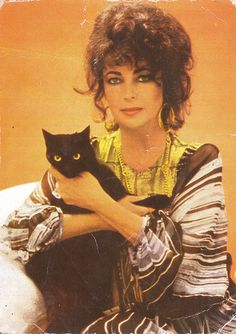 r Cat & Elizabeth Taylor Elizabeth Taylor, Crazy Cat Lady, Crazy Cats, Celebrities With Cats, Celebs, Photoshop Celebrities, Smoking Celebrities, Hollywood Celebrities, I Love Cats