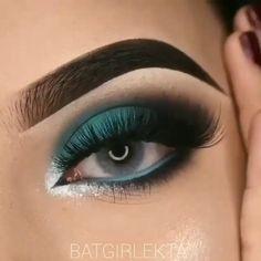Teal Eye Makeup, Brown Skin Makeup, Eye Makeup Art, Makeup For Green Eyes, Kiss Makeup, Prom Makeup, Eyeshadow Makeup, Face Makeup, Makeup 101