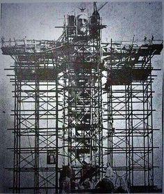 Construcción del Cristo Redentor, Río de Janeiro, Brasil 1926