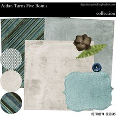 Aidan Turns Five - DSF Collection - Digital Scrapbooking Freebie