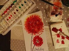 nameday card - ildiko (2018 march) acrylpainting pitypang wcpapír gurigából