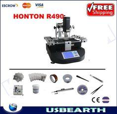 1049.75$  Know more - http://ai2hq.worlditems.win/all/product.php?id=1902382261 - Honton HT R490 bga machine 3 temperature zones BGA reball station+ 11 in 1 90mm BGA reballing kit