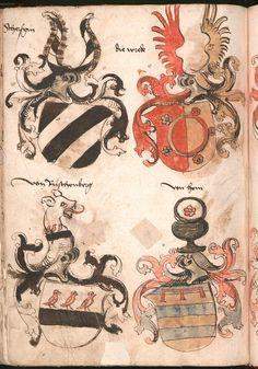 Wernigeroder (Schaffhausensches) Wappenbuch Süddeutschland, 4. Viertel 15. Jh. Cod.icon. 308 n  Folio 243v
