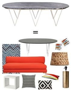 Collectible or Complete Room: Surf Table = Modern Graphic Room