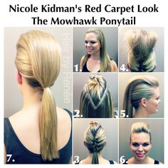 Mohawk Ponytail!! Inspired by red carpet Nicole Kidman's style :)