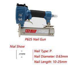 Air Pin Nailer 4-8 bar Air Stapler for Grain Nail 100pcs Air Nailer Length 10-25mm Mosquito Nail Pneumatic FF-P625 #Affiliate