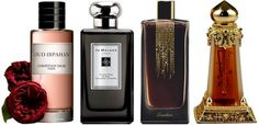 Oud Perfume for Women | from L to R: Oud Ispahan (Dior, 2012), Velvet Rose & Oud (Jo Malone ...