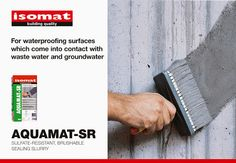 For waterproofing wastewater treatment plants, water tanks and channels, dams and sluices, choose the new, brushable sealing slurry AQUAMAT-SR by ISOMAT! Liquid Waterproofing, Water Tank, Tanks, Surface, Dunk Tank, Shelled, Thoughts