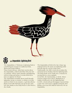 Impundulu, The Firebird ©Ken WIlson-Max 2013 African Mythology, World Mythology, Celtic Mythology, Egyptian Mythology, Mythological Creatures, Mythical Creatures, Yoruba Religion, Monster Hunter World, Demonology