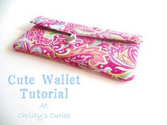 A cute wallet tutoral from Christy's Cuties!  Great gift idea!