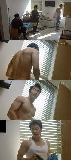 "[Spoiler] ""Mystery Queen"" Kwon Sang-woo takes off shirt"