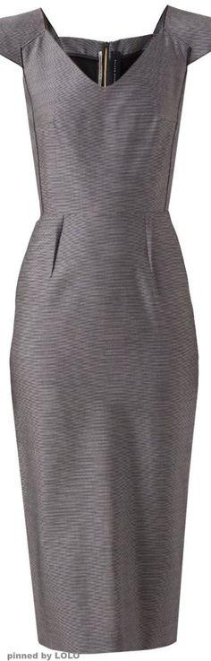 ROLAND MOURET 'Atria' dress