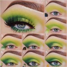ST Patrick's Day Eye Makeup – Valentine Day Eye Makeup, Bright Eye Makeup, Makeup Eye Looks, Makeup For Green Eyes, Body Makeup, Eyeshadow Makeup, Smudged Eyeliner, Eyeliner Shapes, St. Patrick's Day