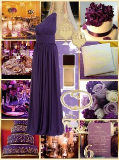 """""""Purple and Gold Wedding"""" by allij28 on Polyvore"""