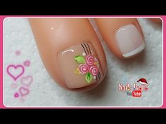 Cute Toe Nails, Cute Toes, Gel Nails, Nail Polish, Nail Art Videos, Nail Designs, Beauty, Mary, Organic