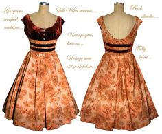 Exquisite Vintage 50s Dress newly made from New/Old by pinkpurr