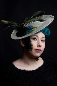 Kentucky Derby Racing Fashion Natural Sinamay Saucer Tilt Hat by ChefBizzaro  Photography By @genaappleby http://www.genaappleby.com/