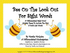 Bee On the Look Out For Sight Words-Differentiated I-Spy   FREE