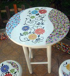 Mosaic Wall Art, Mosaic Diy, Mosaic Garden, Mosaic Crafts, Mosaic Projects, Mosaic Glass, Mosaic Tiles, Mosaics, Mosaic Furniture