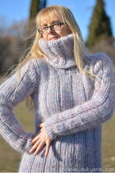 Tneck soft mohair sweater in mixed colours