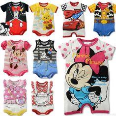280f2f5b4b5f63 New Newborn Baby Kids Boys Girls Rompers Jumpsuit Cartoon Cotton Bodysuit  Outfit