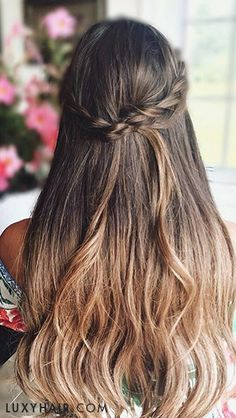 twist back hairstyle - perfect for spring