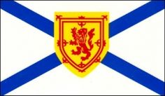 Flag of the Province of Nova Scotia, Canada.