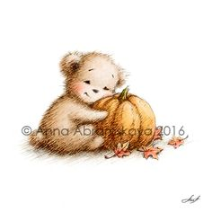 Love Pumpkin. Also available for download at https://www.etsy.com/listing/481286931/teddy-bear-with-pumpkin-thanksgiving?ref=listing-shop-header-0