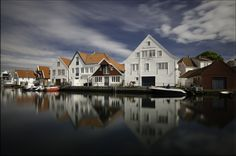 Skudeneshavn, Norway. Bergen, Fishing Boats, Small Towns, Old Town, Norway, Europe, Mansions, Country, House Styles