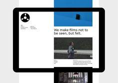 Website for digital production business Reel by Richards Partners Minimal Website Design, Website Design Layout, Web Design Tips, Web Design Company, Website Design Inspiration, Web Layout, App Design, Identity Design, Visual Identity