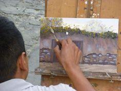 Artist at work. Guatemala. Antigua.