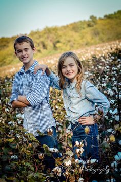 Cute brother and sister pose.  O'neal photography