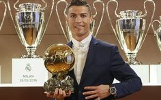 Cristiano Ronaldo Beats Lionel Messi To The Ballon d'Or Trophy