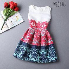 Sukienka vintage 6 wzorów