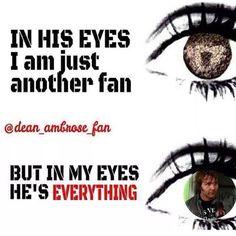 Dean Ambrose ... omg, I LOVE this edit ... maybe do one sorta like it for Finn Balor or Sami Zayn ....