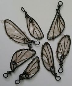 DIY Fairy wings with wire wrapping then filled in with resin. Would be pretty with translucent shimmer or glitter