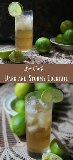 The Dark and Stormy cocktail is a low carb rum drink with plenty of ginger flavor. From Lowcarb-ology.com
