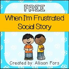 FREE A social story mini-book on how to handle frustration in color and black & white.