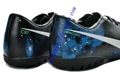 Nike Mercurial Vapor IX CR7 Limited Edition TF Cleats - Black White Blue Galaxy Soccer Shoes For Cheap