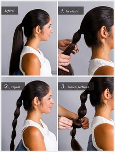 Jasmine's banded ponytail | Community Post: 7 Easy Hair Tutorials Even Disney Princesses Would Envy